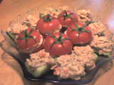 tomate et concombre farcis