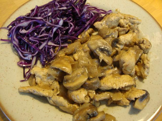 poulet champignons crème